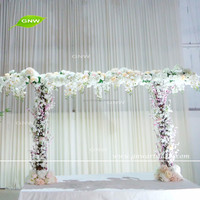 GNW FLA1609029 Stunning wedding flower arch Floral ceremony backdrop