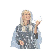 PE temporary using foldable target rain poncho for bad weather