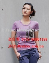 Free shipping supply womens' blank T SHIRT