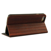 wood mobile phone housing for iphone6/iphone6 plus flip stand wood cases