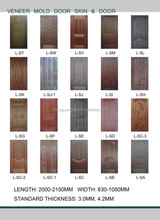 MDF contemporary decorative door skin for interior doors