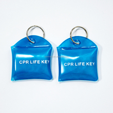 CPR face shield with barrier valve in PVC waterproof bags for first aid kits