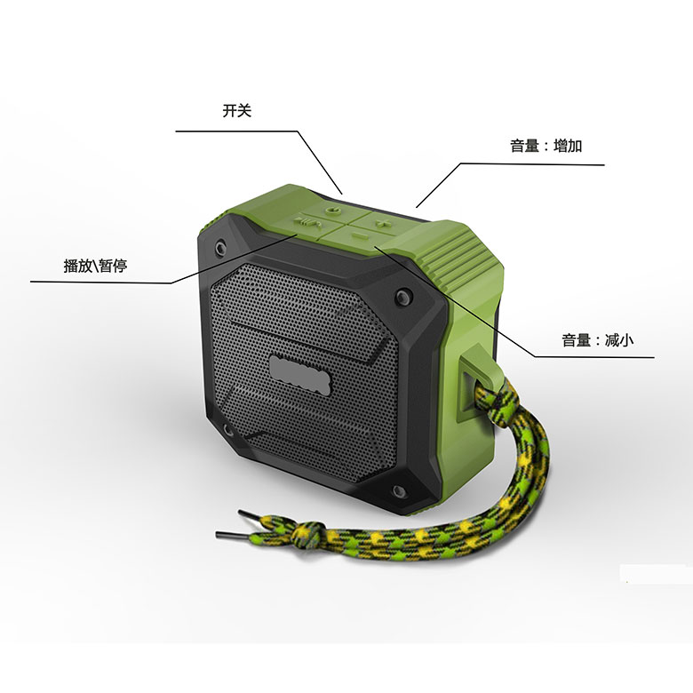 D520C portable waterproof <strong>bluetooth</strong> music mini speaker rechargeable 3 inch speaker