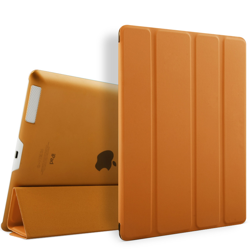 Fashionable PU Leather flip cover case for apple ipad 2 3 4 tablet case with auto sleep and stand function