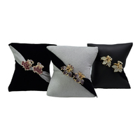 Custom Velvet/PU Jewelry Display Pillows for Brooches Hair Decorations, Stand Pillow for Window Showcase