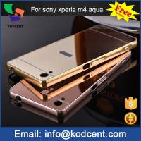 Custom hard smart aluminium metal frame bumper cover case for sony xperia m4 aqua
