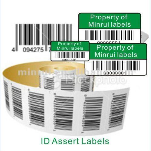 Private Property ID Tags,Barcode Stickers,Custom Asset Tags and Labels Suppier China