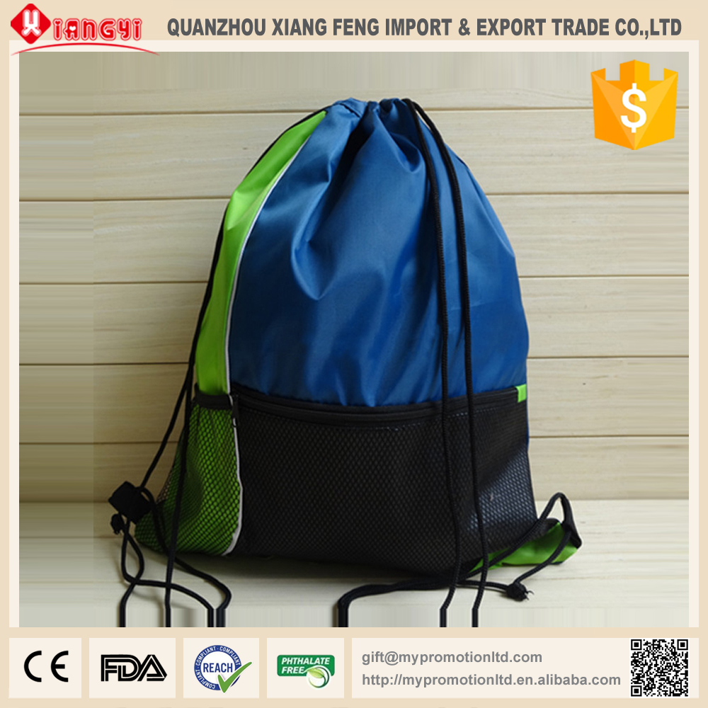 Stay cord shoe shaped folding drawstring backpack bag