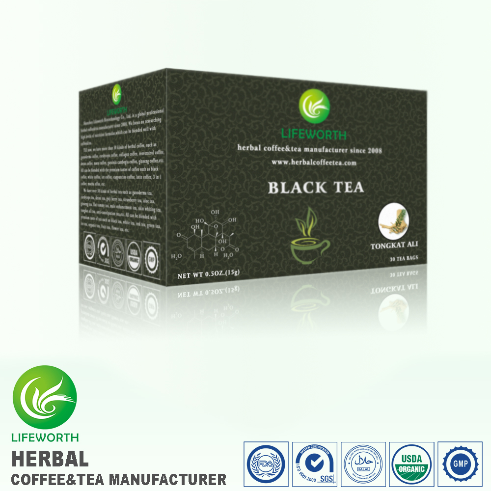 High quality organic tea extract black tongkat ali tea powder with factory price