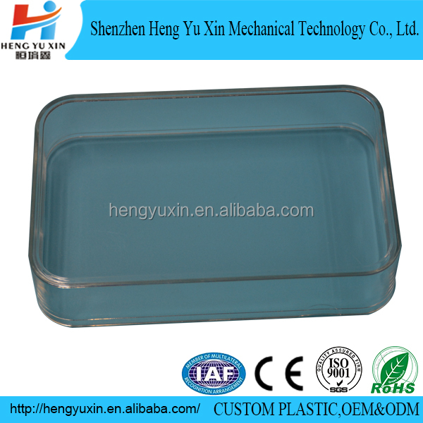 High quality PS rectangular clear plastic box for storage
