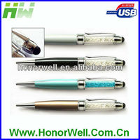 TOUCH PEN SHINNING CRYSTAL USB DRIVE