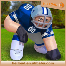 commercial outdoor nfl inflatable player lawn figure bubba player model for sale