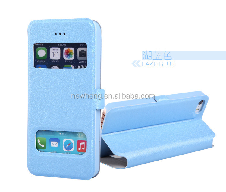 original leather case with window for iphone 5 5S 5C with retail package
