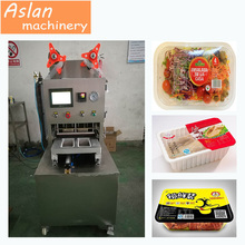 MAP vacuum tray sealer/cooked meat vacuum sealing machine/ poultry plastic tray vacuum sealer machine