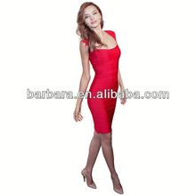 Peacock sexy halter top evening dresses red color