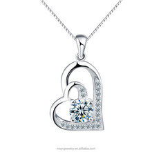 925 sterling silver two love together design pendant