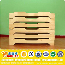 School and kindergarten kids wooden single cot bed