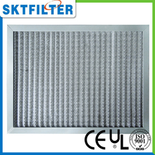 metallic air pre filter mat with aluminum alloy frame