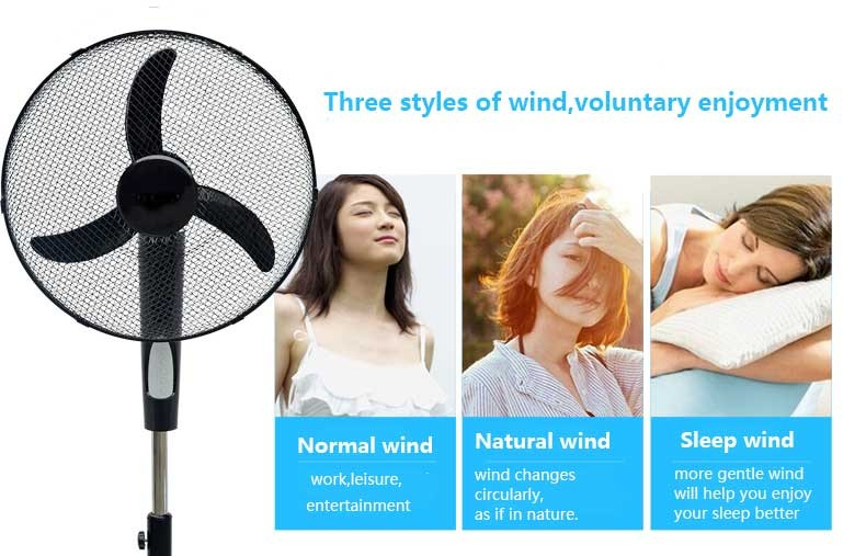 16/18 inches 220V-240V electric stand fan with remote control