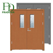 Emergency fire exit door with glass Galvanized Steel door