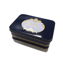 Rectangular choclate tin box / custom printed gift tin / embossed chocolate packaging box