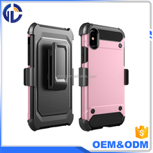New Arrival Mobile Phone Cases for Iphone X ,Armor Holster Protector Combo Case for Iphone X