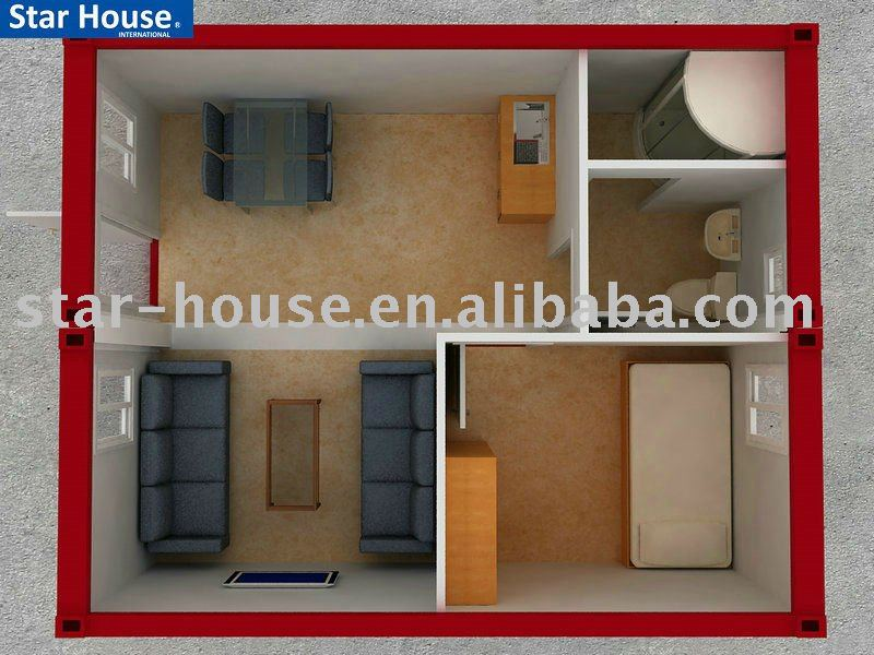 20ft living container house with PVC cladding