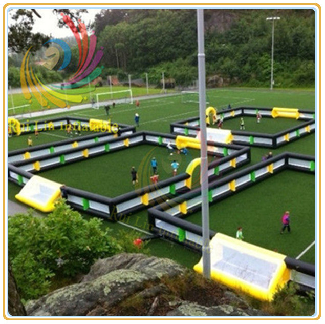 Popular Inflatable Soccer Field With Net Windows
