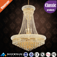 Luxurious golden crystal ball pendant european chandelier