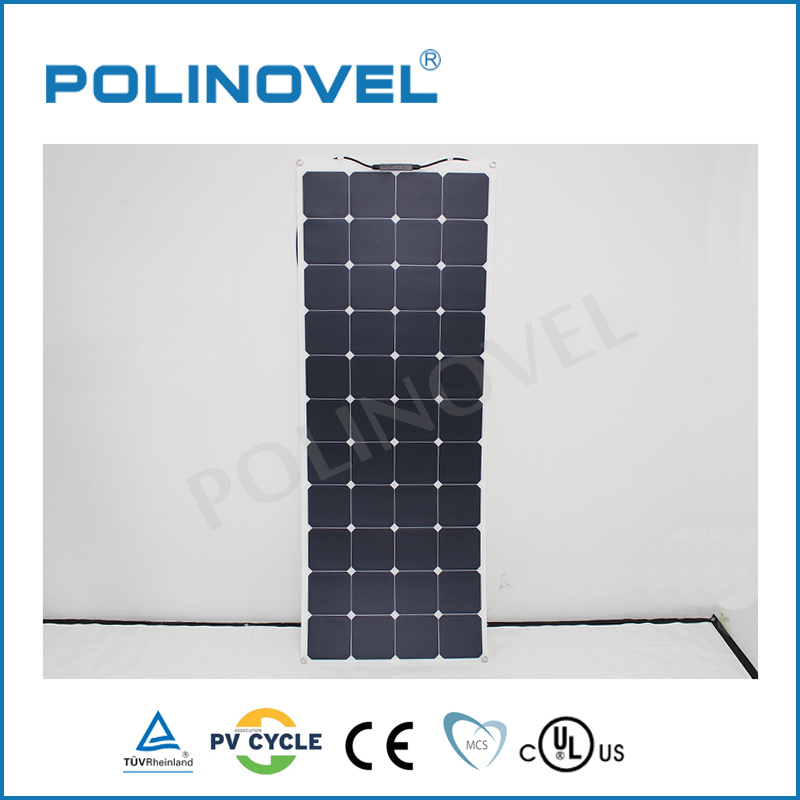 Light weight Mono 135w 130W 24v solar panel flexible