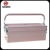 Steel tool box for camper trailer, truck tool box with custom service