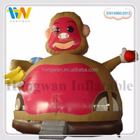 hot sale commercial inflatable combo plastic monkey toys funny games