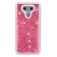 Free Sample Glitter Stars Quicksand Hard PC+TPU Case Phone Cover For LG G6 case