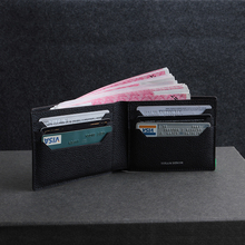 100% Genuine cow leather men's fold wallet