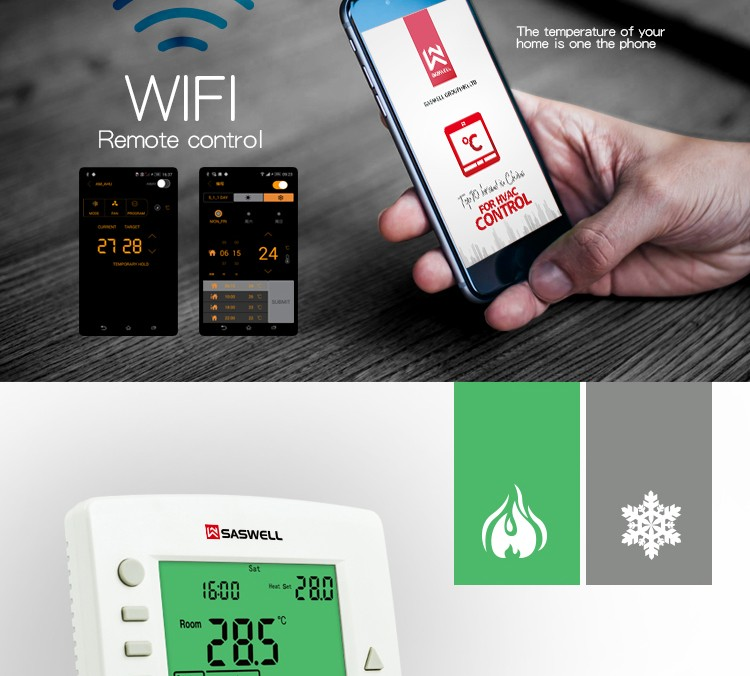 Thermostat Wi-Fi 7-day Programmable RTH6580WF for USA market