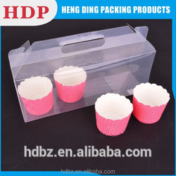 pvc pp pet plastic box packaging design for cake