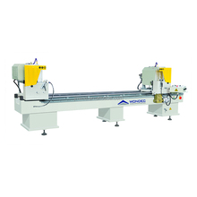 China hot sale double head cutting saw machinery for pvc and aluminum door window fabrication