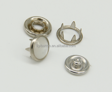 decorative custom brass ring snap button and stainless steel five prong button for garment