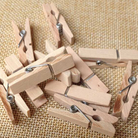 mini Wooden Pegs Natural Craft Baby Clothes Pin wood photo clips 35mm