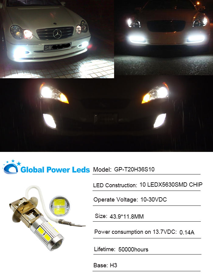 H3  led fog light