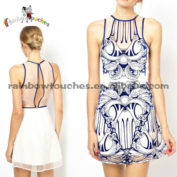Printing 2013 Latest Office Ladies High Fashion Dress