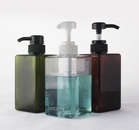 Cosmetic Shampoo PET Plastic Bottle 100ml 150ml 200ml 300ml 400ml 500ml cream pump bottle 500ml