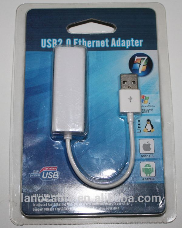 10/100/1000mbps 2.0 usb to network rj45 lan adapter