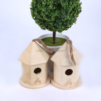 Small new unfinished wooden bird house wholesale
