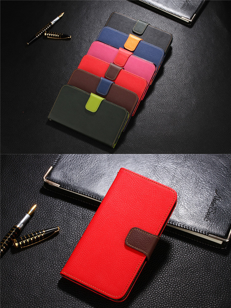 Free Sample PU Leather Card Wallet Flip Back Cover Case For Samsung Galaxy Note2