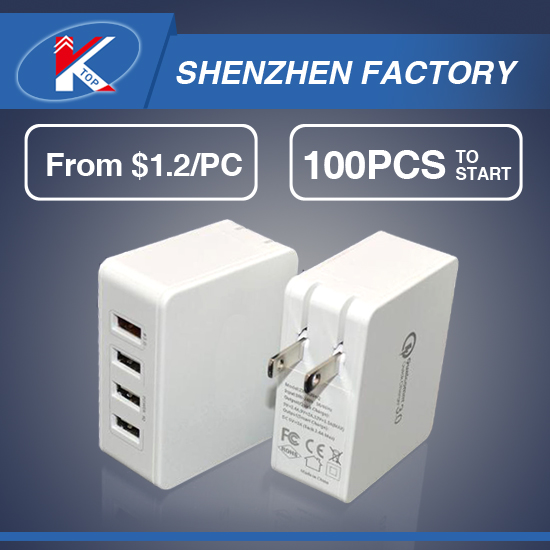2017 5V 5A Mini 4 USB Port USB Wall Charger Mobile Accessories Phone Home Charger 4USB Travel Charger Alibaba Express US Plug