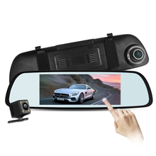 Car accessories china dvr rearview mirror car with cycle recording, g-sensor, ADAS