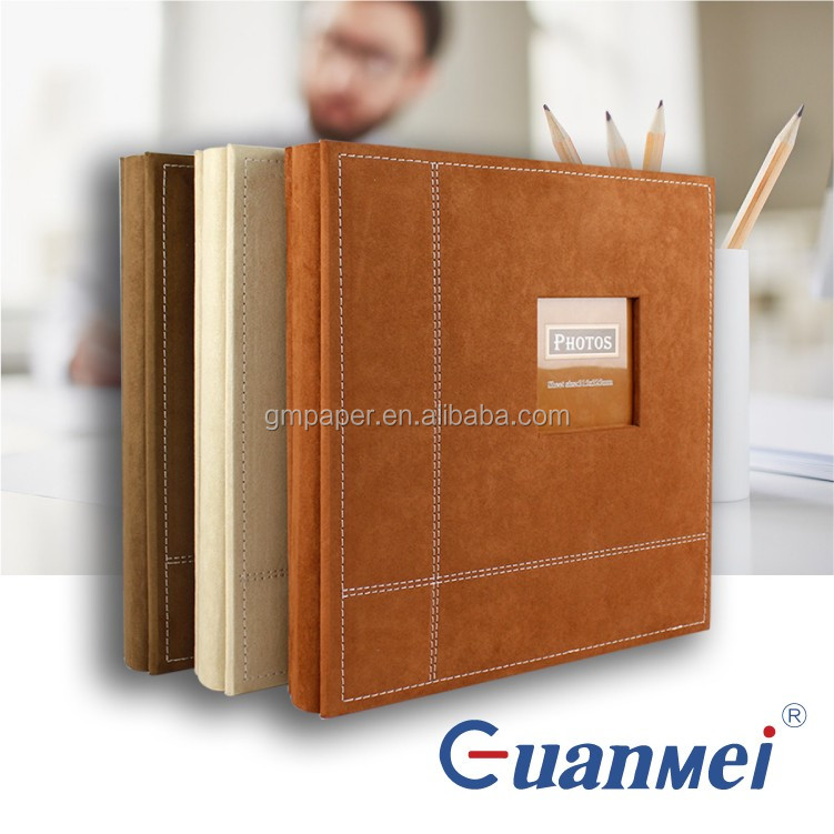 GuanMei A52036 40 sheets self adhesive photo album 315*325mm with fabric cover