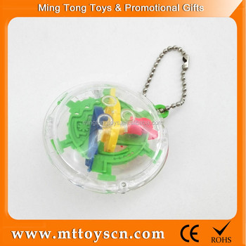 30 steps keychain educational plastic 3D mini toy game maze ball