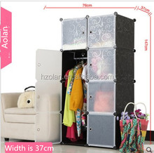 8 doors black wardrobe cabinet used/ baby wardrobe clothes cabinet/ wardrobe for kids